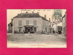 45 LOIRET, PITHIVIERS, Place De L'Abbaye, Animée, Commerces, 1906, (A. Portéhaut) - Pithiviers