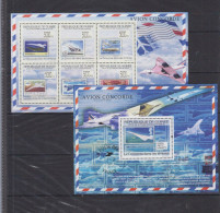 GUINEA 2009  History Of Aviation, Planes, Zeppelins, Airships, Stamp On Stamp Sheetlet+SS  Perf. - Vliegtuigen