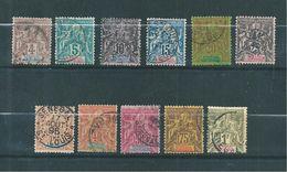 Colonie  Sénégal De 1892/93 N°10 A 20  Oblitérés  Cote 161€ - Senegal (1887-1944)