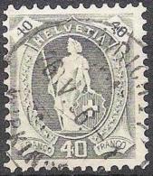 14 Vertikalzähne WZ I 1906: Zu 89B Mi 77A Yv 96 - 40c Grau Mit O ZÜRICH-WIPKINGEN 26.V.06 (Zu CHF 18.00) - Gebraucht