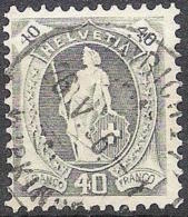 14 Vertikalzähne WZ I 1906: Zu 89B Mi 77A Yv 96 - 40c Grau Mit O ZÜRICH-WIPKINGEN 26.V.06 (Zu CHF 18.00) - 1882-1906 Wappen, Stehende Helvetia & UPU