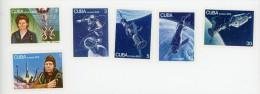 Cuba1976-URSS Jour Des Cosmonautes YT 1920/5**MNH-Dentelé