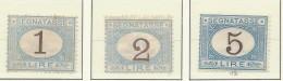 Italia - 1870/74 - Nuovo/new MH - Segnatasse - Sass. N. 11/13 - 1861-78 Victor Emmanuel II
