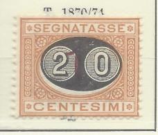 Italia - 1890/91 - Nuovo/new MH - Segnatasse - Sass. N. 18 - Taxe