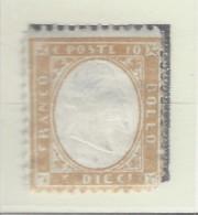 Italia - 1862 - Nuovo/new MH - Vittorio Emanuele II - Sass. N. 1 - Nuovi