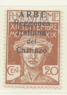 Arbe - 1920 - Nuovo/new MH - Sovrastampati 'Reggenza Italiana Del Carnaro' - Sass. N. 7 - 8. Ocupación 1ra Guerra