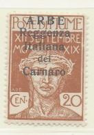 Arbe - 1920 - Nuovo/new MH - Sovrastampati 'Reggenza Italiana Del Carnaro' - Sass. N. 7 - 8. Besetzung 1. WK