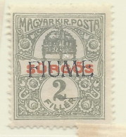 Fiume - 1918/19 - Nuovo/new MH - Giornali - Sass. N. 2 - Fiume