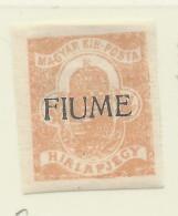 Fiume - 1918/19 - Nuovo/new MH - Giornali - Sass. N. 1 - 8. Occupazione 1a Guerra