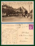 CPA STRASBOURG  Place Gutenberg Et Marché Aux Fleurs Voy Paix 1937 - Strasbourg