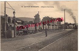 71 - AUTUN MODERNE - GARE  DEPART D' UN TRAIN - Autun