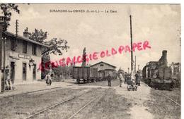 71 - SIMANDRE LES ORMES - LA GARE - France