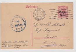 Occupied Belgium Postal Stationary Censored And Posted Lüttich - Liege Belgien 22.4.1917 27.2.1918   (T1-43) - Militaria