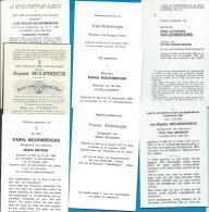 Bidprentjes   Mol   8   Stuks    Molenberghs - Images Religieuses