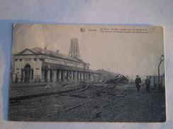 Leuze / La Gare. Dégàts Causés Par Les Allemands - The Station. Dammage Caused By Th  Animee - Geanimeerd 19?? Tres Rare - Leuze-en-Hainaut