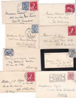 LOT : 8 Enveloppes Carte De Visite De Verviers Val St Lambert Liege , Bxl - 1934-1935 Léopold III
