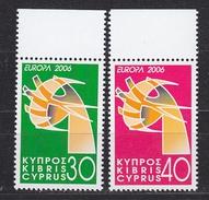 Europa Cept 2006 Cyprus 2v  ** Mnh (33919A) - Europa-CEPT