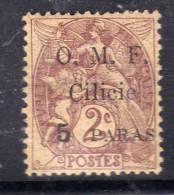 Cilicie N° 80 X  5 Pa Sur 2 C. Brun-lilas, Trace De Charnière Sinon TB