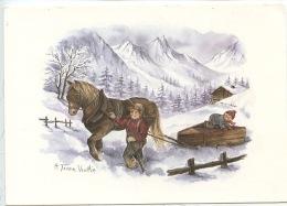 A. Terra Vecchia : La Vie En Montagne N°36 Vierge  - éd Mythra Sallanches (cheval Arrelage Luge Enfants) - Illustrateurs & Photographes
