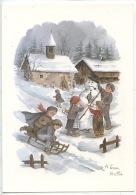 A. Terra Vecchia : La Vie En Montagne N°30 Vierge  - éd Mythra Sallanches (chapelle Chalet Enfants Bonhomme De Neige Lug - Illustrateurs & Photographes