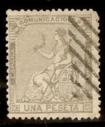 Edifil  138 (º)  1 Peseta Lila   Alegoría De España   1873    NL1062 - Nuevos