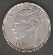 BELGIO 20 FRANCS 1935 LEOPOLD III AG SILVER - 1934-1945: Leopoldo III