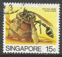 Singapore. 1985 Insects. 15c Used. SG 493 - Singapore (1959-...)