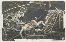 Mine Flood Disaster - Une Inondation France Catastrophe Vintage Postcard - Photographs