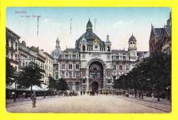 * Antwerpen - Anvers - Antwerp * (Ed J.H. Verhoeven) Le Gare Centrale, Bahnhof, Railway Station, Tram Vicinal, Animée - Antwerpen