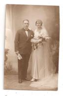 Couple De Mariés-carte Photo-(B.5890) - Noces