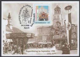 "Austria 2008, Maximum Card ""Rupertikirtag In Salzburg"" W./postmark Salzburg - Cartoline Maximum"