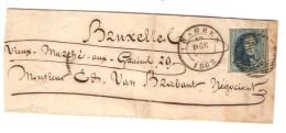 TP 11 Médaillon 3 Marges S/L.c.Tongres 19/12/1862 V.Bruxelles C.d´arrivée PR3767 - 1858-1862 Medallions (9/12)