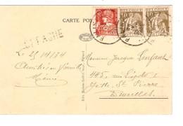 TP 337(2)-336 S/CP Paliseul Paliseul 26/4/1934 + Griffe Offagne V.Bruxelles PR3768 - Postmark Collection