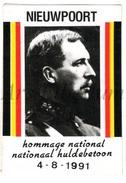 ROYALTY / Belgium / Belgique / Koning Albert I / Roi Albert I / King Albert I / Zelfklever / Nieuwpoort / 1991 - Unclassified