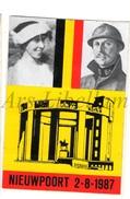 ROYALTY / Belgium / Belgique / Koning Albert I / Roi Albert I / King Albert I / Zelfklever / Nieuwpoort / 1987 - Unclassified