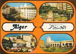 Algiers Alger Algeria Algérie - Multiviews - Mosque Mosquée Post Poste Stadium Stade Square - 2 Scans - Algiers