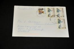 3- Envelope From Zimbabwe To Holland - Zimbabwe (1980-...)