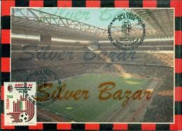 MILAN-STADI-STADIO SAN SIRO-MILAN CAMPIONE NAZIONALE DI CALCIO 1991/92-MARCOFILIA-ANNULLO SPECIALE 25/5/1992 - Fútbol