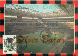 MILAN-STADI-STADIO SAN SIRO-MILAN CAMPIONE NAZIONALE DI CALCIO 1992/93-MARCOFILIA-ANNULLO SPECIALE 7/6/1993 - Fútbol