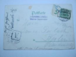 1899 , 5 Pfg. Krone , Oberrandstück Auf Karte Aus Altona - Germany
