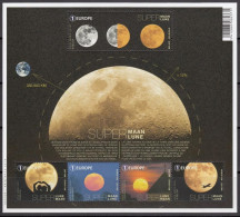 Belgium 2016 Space Astronomy Supermoon SS MNH