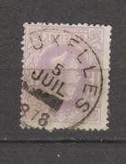 COB 36 Oblitéré BRUXELLES Sans L'heure Catalogue 2016 COBA +1 - 1869-1883 Léopold II