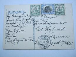 1906 , KAMERUN , Karte Mit Seepoststempel Und Mischfrankatur Mit Togomarke - Kolonie: Kamerun