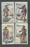 Bahamas N° 628 / 31 XX Pirates Et Corsaires Des Caraïbes,  Les 4 Valeurs  Sans Charnière, TB - Bahamas (1973-...)