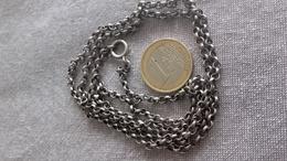 Chaine Argent Silver,maille Ancienne Jaseron,17 - Colliers/Chaînes
