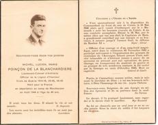 .AVIS De Décès  Michel De La Blanchardiere Lieutenant-Colonel D´artillerie  Pendant Sa Déportation à Mauthausen En 1944 - Devotion Images