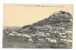 DOMME  (cpa 24)  Ruines Du Château Du Roi Et Cénac -  - L 1 - France