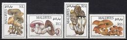 Maldives - 1987 - Yvert N° 1114 à 1117 **  - Flore, Champignons - Maldives (1965-...)
