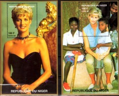 Diana /children1997 Niger Bl.I 110+A 111 ** 16€ Porträt-Fotos Lady Di Blocs M/s Flower Princess Of Wales Sheet Bf Africa - Childhood & Youth