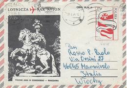 STORIA POSTALE INTERO VIA AEREA LETTERA POLONIA - 1944-.... Repubblica